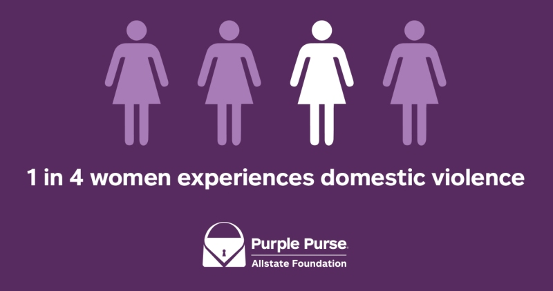 Allstate purple purse