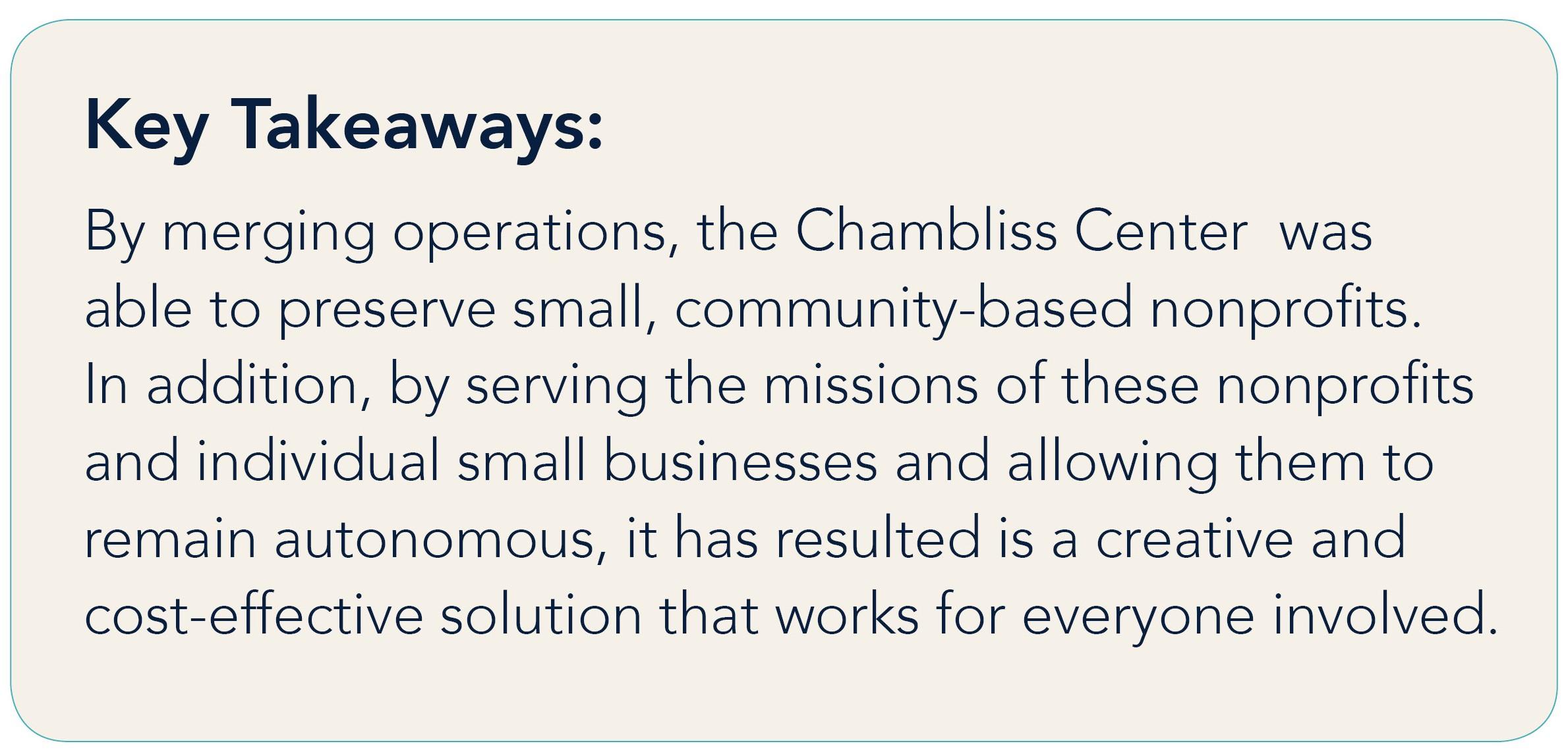 Shared Service Key Takeaway #3