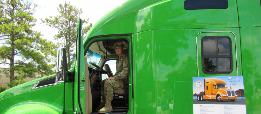 Soldier in Kenworth T680