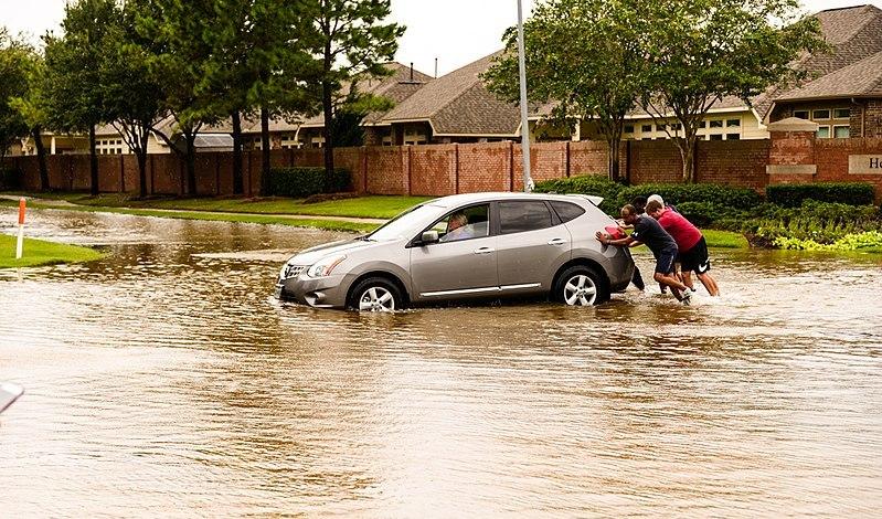 hurricane harvey stock photo