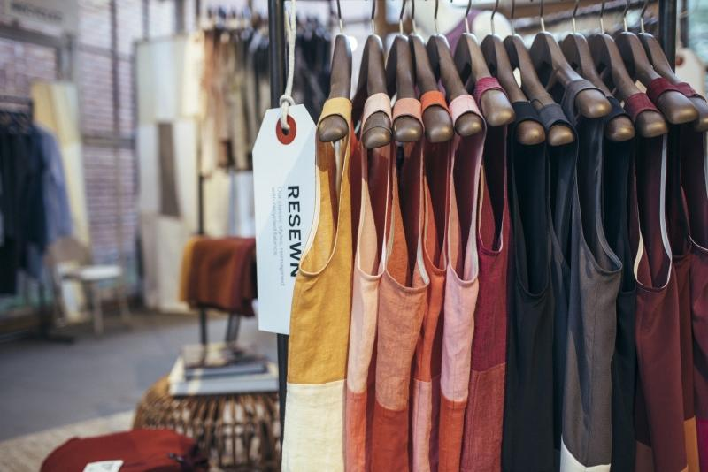 Dresses hanging on a rack