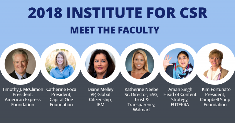 Meet the 2018 Institute Faculty