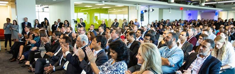 The house was packed for the ribbon-cutting on the ASU-Infosys partnership on Friday, Sept. 13.
