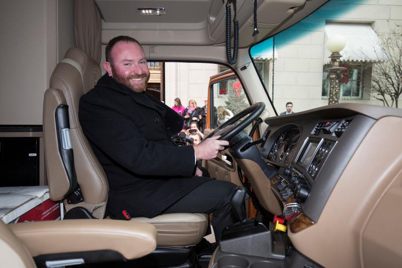 Troy Davidson in his new truck