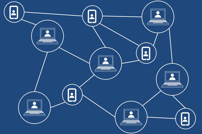 Blockchain stock photo
