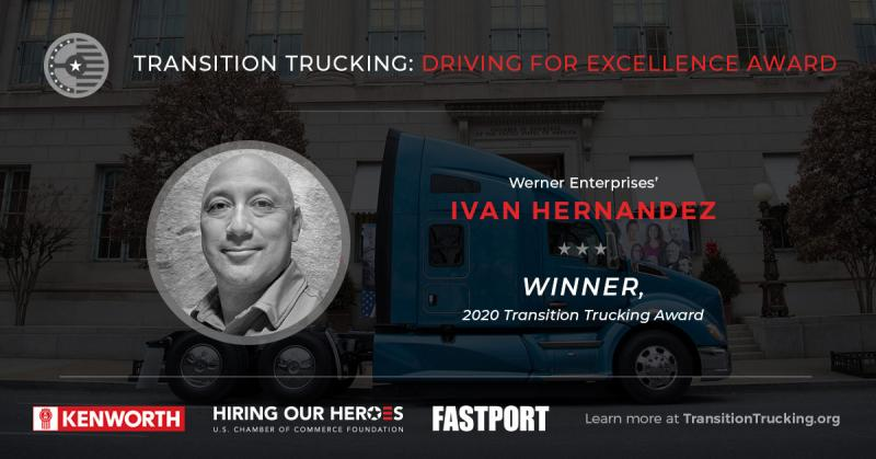 Ivan Hernandez, Transition Trucking Winner 2020