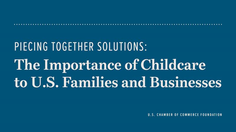 The Importance of Childcare for Families and Business Graphic
