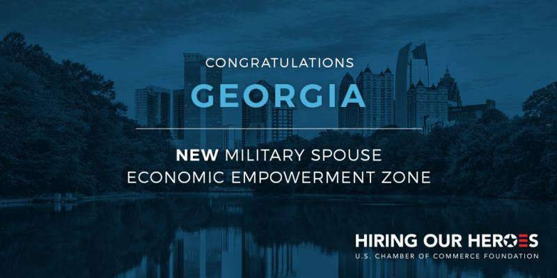 Georgia Military Spouse Economic Empowerment Zone Launch Congratulations!