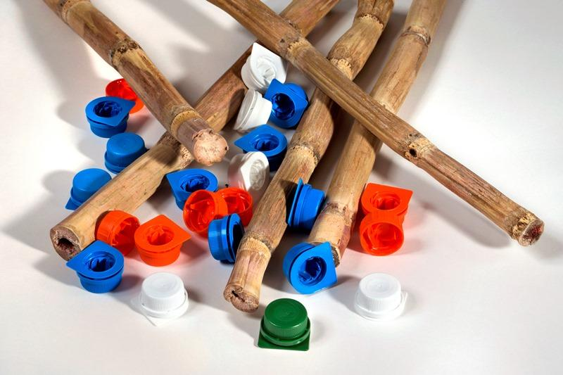 Sticks and colored caps