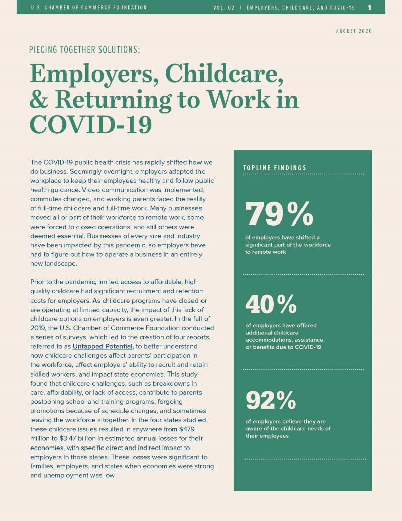 Employers, Childcare, & COVID-19