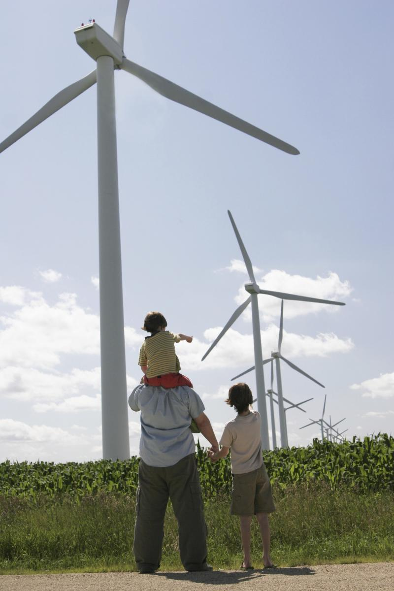 Family with wind energy