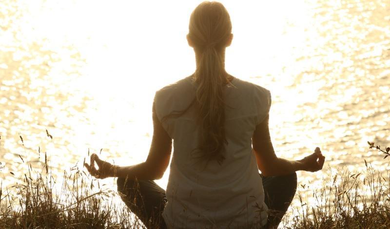 Meditate stock photo