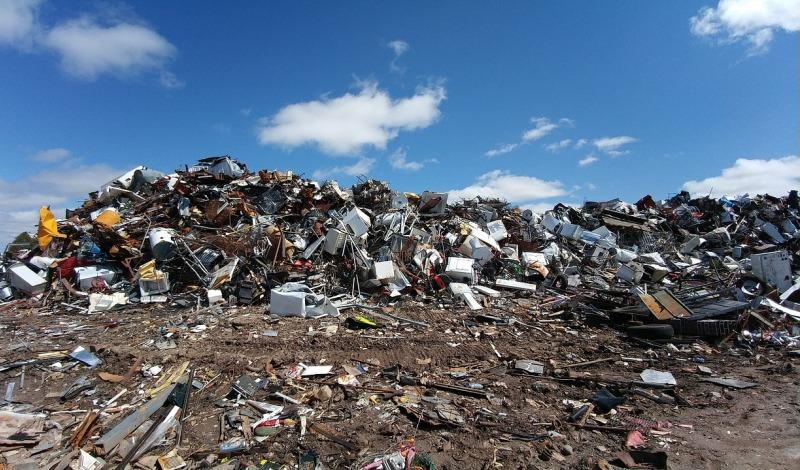 scrapyard stock photo