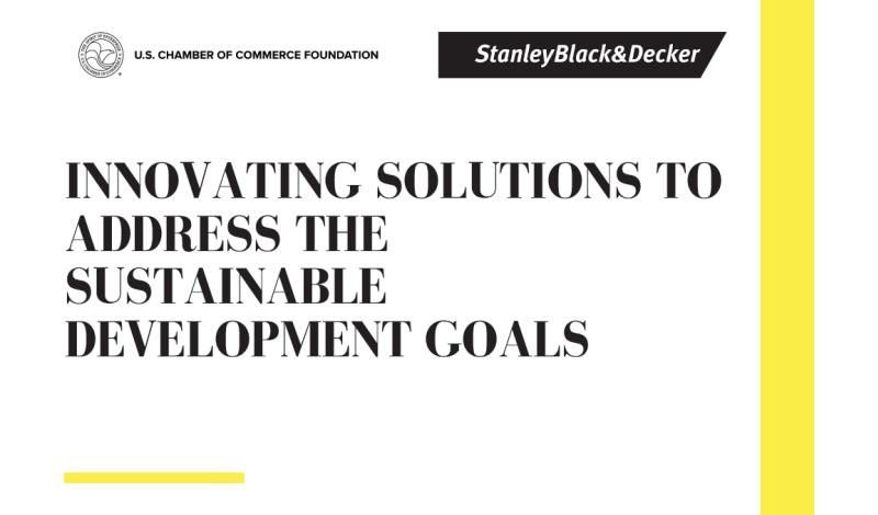 Stanley Black & Decker UNGA Report