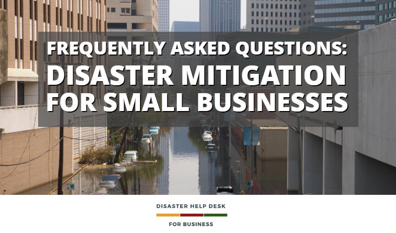 Disaster Mitigation FAQs Blog