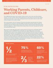 Working Parents, Childcare, & COVID-19
