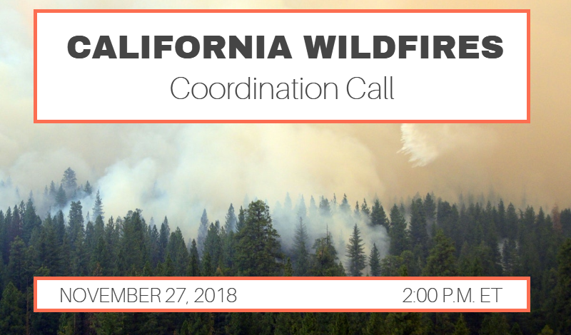 CA Wildfires Coordination Call