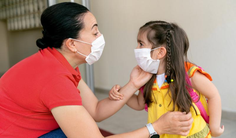 Hispanic Mother_Daughter with Masks