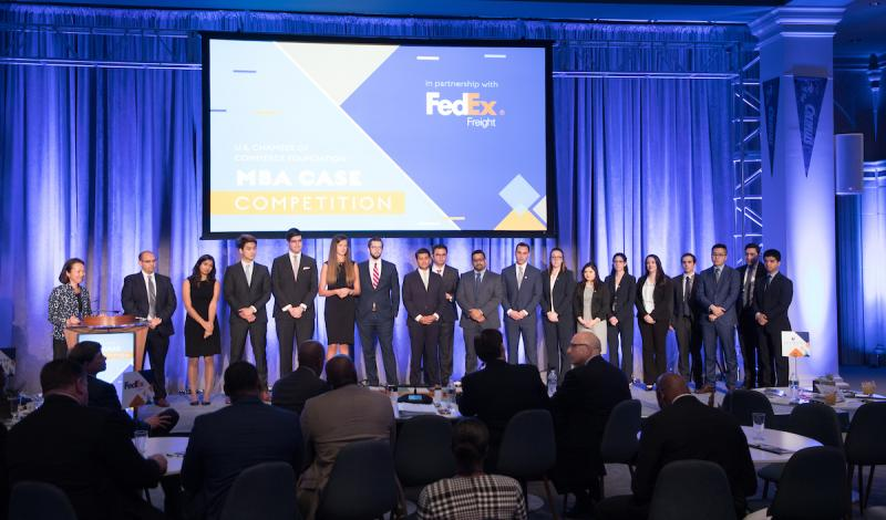 Four MBA teams competed before a panel of A-list judges at the live MBA Case Competition