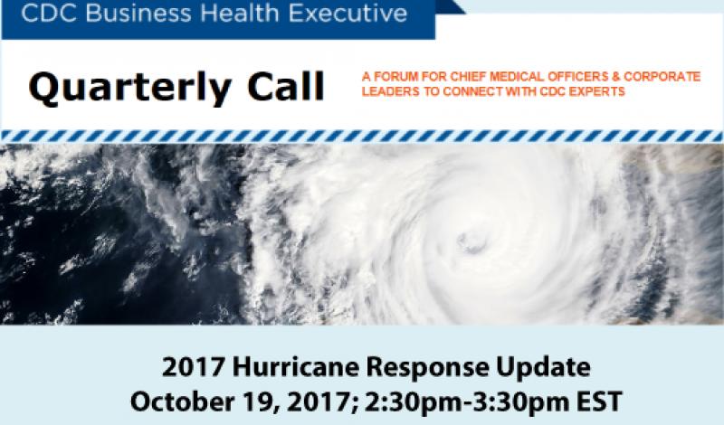 CDC Hurricane coordination call