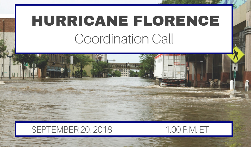 Hurricane Florence Coordination Call