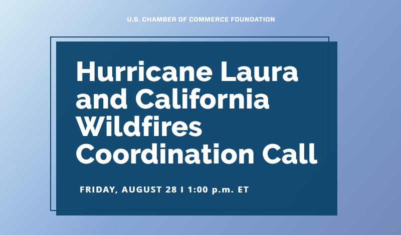 Hurricane Laura & CA Wildfires Coordination Call