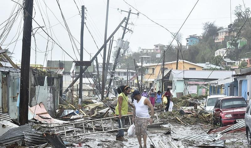 Hurricane Maria stock photo