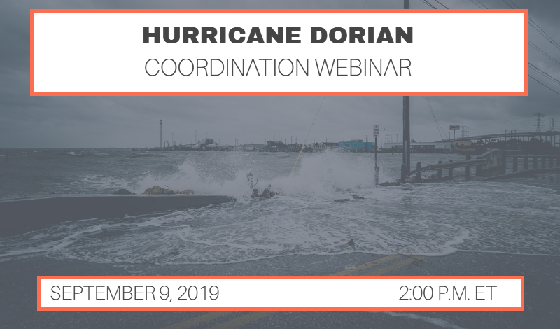 Hurricane Dorian Coordination Call