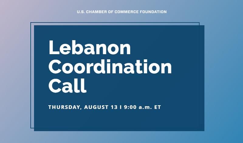 Lebanon Coordination Call