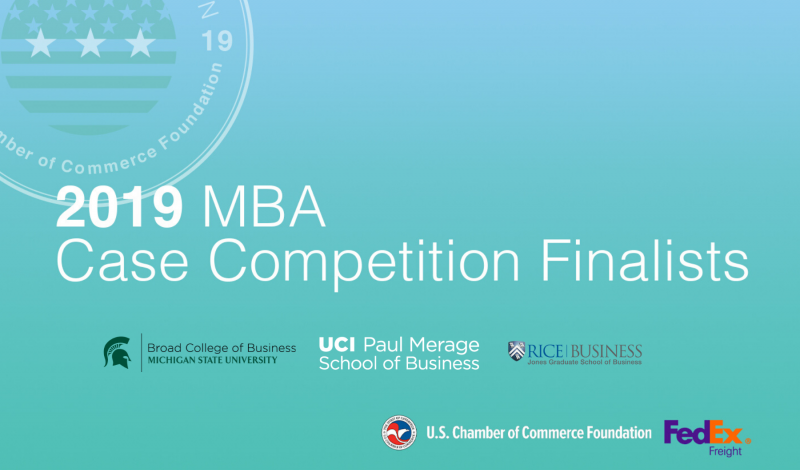 2019 MBA Case Competition Finalists
