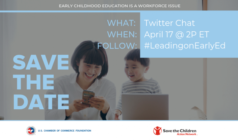 Twitter Chat on April 17 to Discuss Business Case for Early Childhood Education