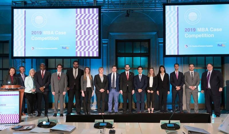 2019 MBA Case Competition Finalists.