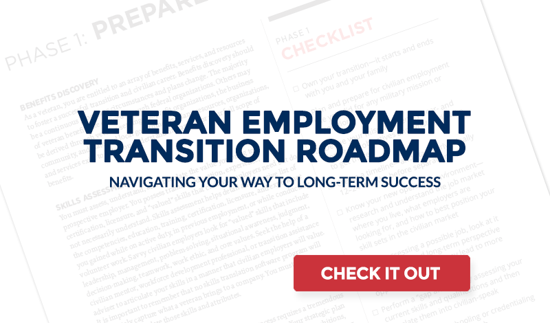Veteran Employment Transition Roadmap US Chamber Of Commerce - Us road map background