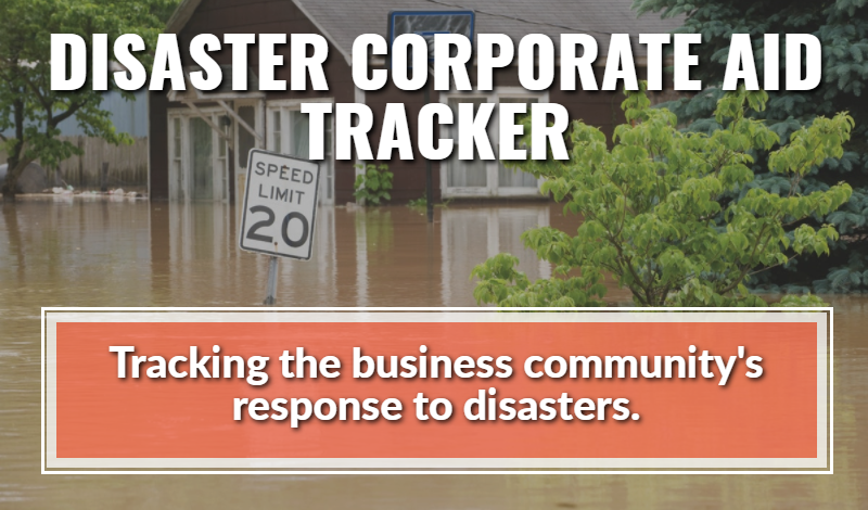 Disaster corporate aid tracker