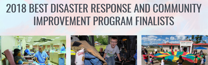 2018 Disaster Response and Community Resilience Finalists