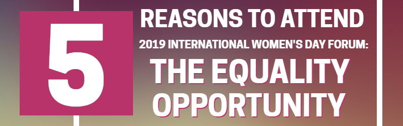 IWD 2019 reasons to attend