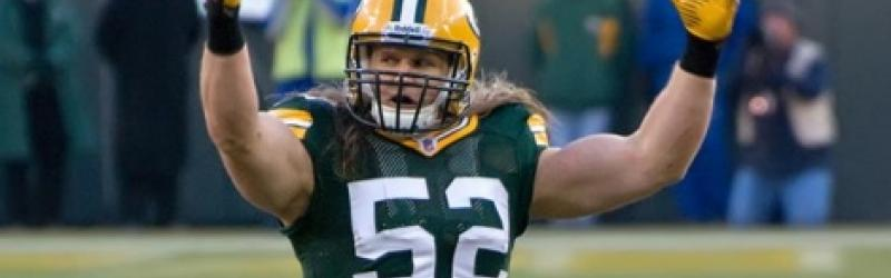 Green Bay Packers linebacker, Clay Matthews. Photograph: Mike Morbeck , via Wikimedia Commons.
