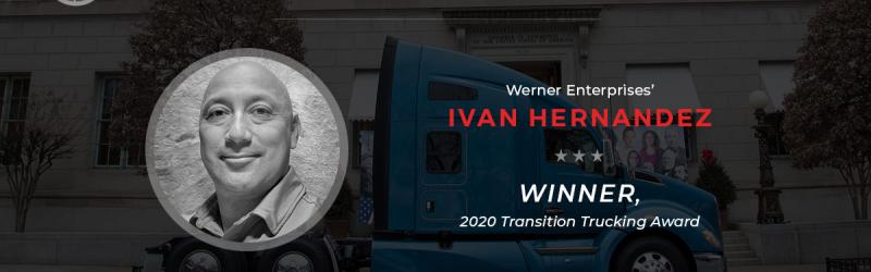 Ivan Hernandez, Transition Trucking Winner 2020